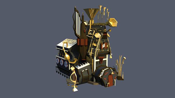 music district game art by diana kogan